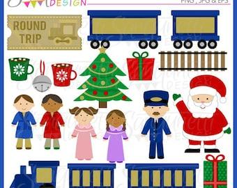 christmas train clipart santa polar express clip art rh etsy com polar express clip art black and white polar express bell clipart