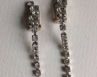 Silver Tone Dropper Earrings - Clip Fitting - UnPierced Ears- Gifts for Her