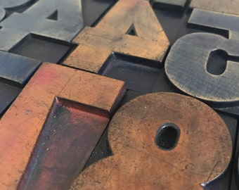 3 Inch Vintage Letterpress Number / Old Wood Number / Vintage Type / Type Print Number / Number Two / Number One / Vintage Letterpress