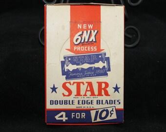 Vintage NOS star razor blades