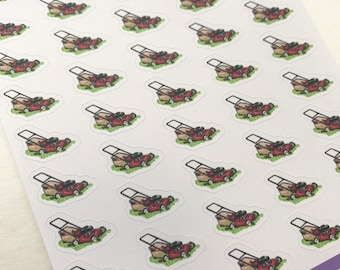 A113 - Lawn Care - Planner Stickers