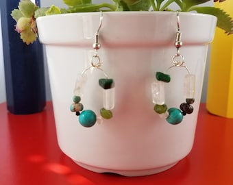Handmade dangling earrings,'one and only one 'design for you!