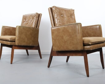Set of 2 Club Chairs by Milo Baughman for Thayer Coggin