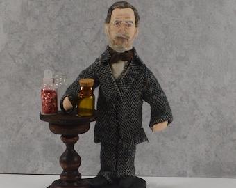 Louis Pasteur Doll Microbiology Vaccination Science Geek Art