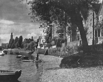 Strand on the Green Chiswick near Kew bridge 1950s vintage Print B & W photograph Vintage ephemera Street art Old London