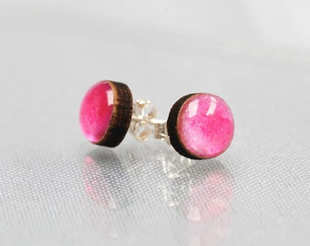 Small Candy Pink Stud Earrings