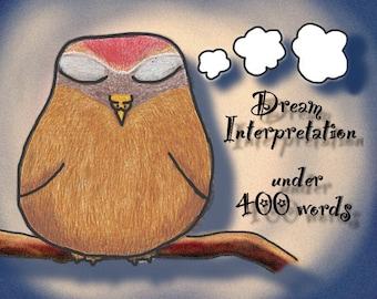 Dream interpretation donation (under 400 words)
