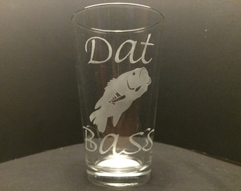 Hunting/Fishing Novelty Etched Glass