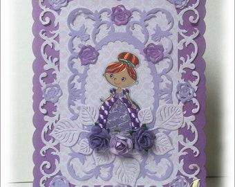 Princess #1 Handmade Card Happy Birthday princess female girl daughter niece disney