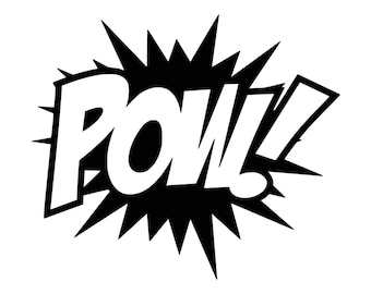 Comic book inspired POW vinyl decal.  0073