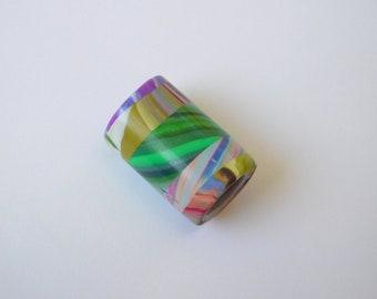 Polymer Clay Dread Bead with 7 mm bead hole