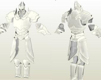 Imperius ArmorDiablo III Base model Unfolded for FOAM