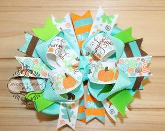 Pumpkin Patch princesse, citrouille, feuilles, automne, arc de cheveux