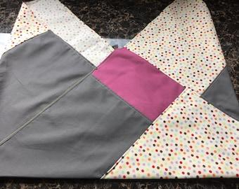 Bento Bag HANDMADE Patchwork Small Cotton /  Lunch / Gift  Reusable Washable Ecology Furoshiki