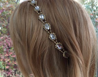 Wedding Hair Accessory, Bridal Hair Accessory, Gold Hair Accessory, Rhinestone Hair Accessory, Crystal Hair Accessory, Back Hair Accessory