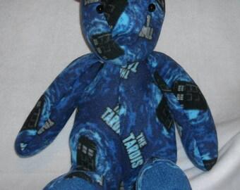 Time Lord- Dr. Who TARDIS print plushie