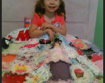 Handmade Custom Baby Memory Quilt from Baby Clothes