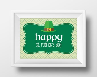 4 St. Patrick's Day Party Signs. St. Patrick's Day Party Decorations. Party Supplies. *INSTANT DOWNLOAD*