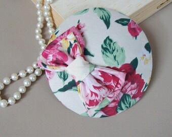 """""""Bibi"""" hat / fascinator - pink maroon some"""