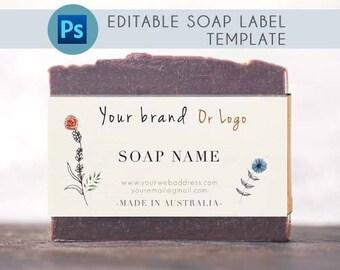 Printable soap labels PSD, Custom Soap packaging, Custom soap labels, Custom soap packaging, Printable soap packaging, Custom printable soap