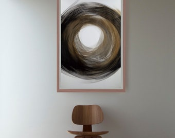 Large abstrat ink art painting- Abstract, art, circles art, ink art, nature, abstract wall art, abstract art, large abstract art, minimalist