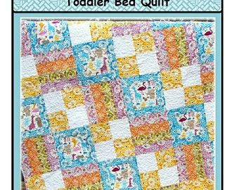 PDF Quilt Pattern Toddle Time Toddler Bed Quilt Carlene Westberg Designs