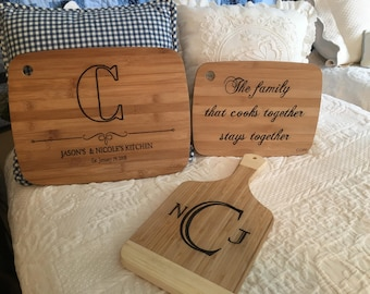 Personalized, Customized Cutting Boards.  Handmade for a more person touch