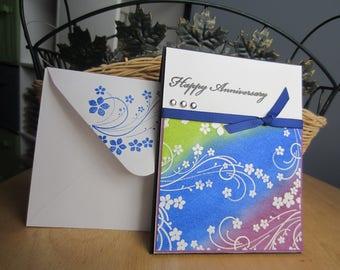 Happy Anniversary Card, handmade anniversary card