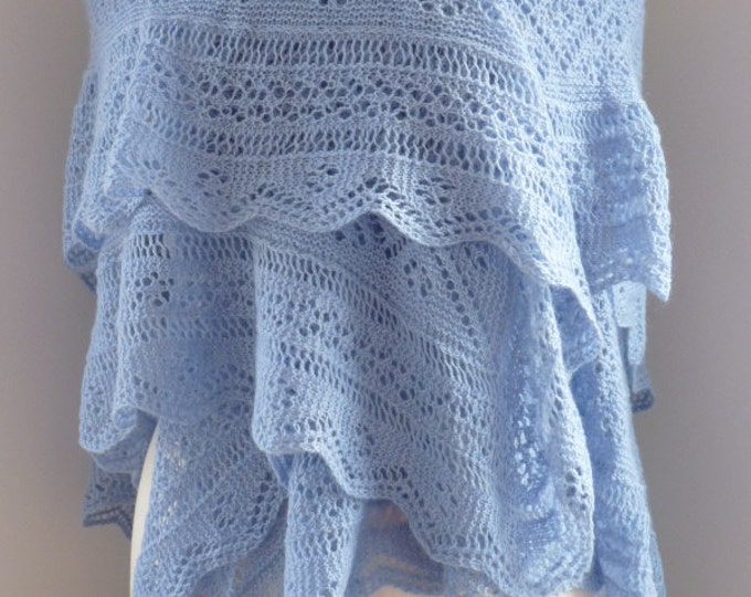 pdf pattern for the Cataria Shawl by Elizabeth Lovick - instant download