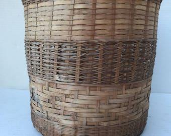 Antique Native American  Basket, Indian Basket, Circa 1800s Handmade Indian Basket