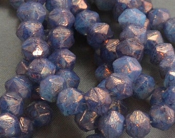 English Cuts 8mm Amethyst Blue (8) Czech Glass