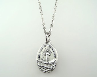 Our Lady of the Highway Medal Necklace