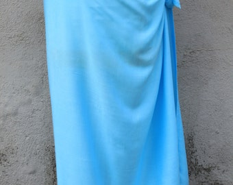 LIGHT BLUE Light Turquoise-Pareo-solid color-full -rayon- sarong, lavalava, pareau, tahitian costume, tahitian pareo