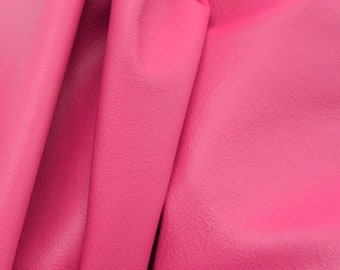 Leather Cow Upholstery Full Hide Tropical Hibiscus Pink 40-55SF 2oz Bulk Listing DE-68133