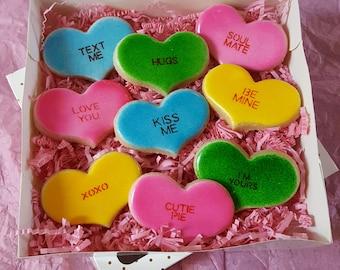 Conversation Heart Cookie Gift Box