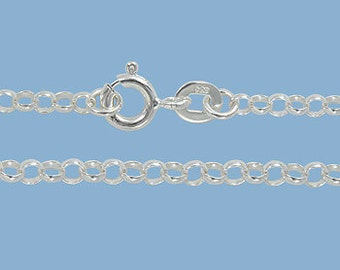 Sterling Silver 2.5 mm Rolo Chain