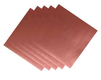 Metallic Permanent Adhesive Vinyl   12in by 12in Sheet   Rose Gold