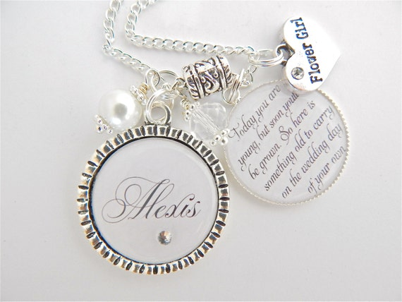FLOWER GIRL GIFT Childrens Wedding Jewelry Personalized