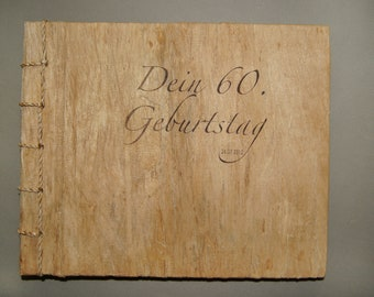 Mulberry for special moments - with name personalized wood photo album