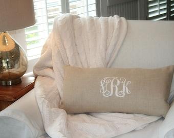 Monogramm-Kissenbezug, Hochzeitsgeschenk, Kinderzimmer Dekor, Monogramm Leinen Kissenbezug, personalisierte Kissenbezug, Home & Wohnzimmer Dekor von OhKoey