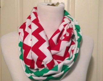 Two TonedChevron Infinity Scarf Christmas-NOT A NURSING SCARF