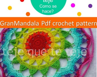 Gran Mandala English Pattern