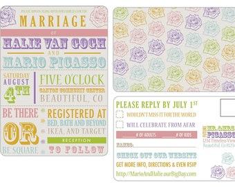 Colorful Wedding Invitation Set