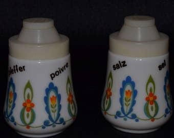 Vintage Italian Floral Salt & Pepper Shakers