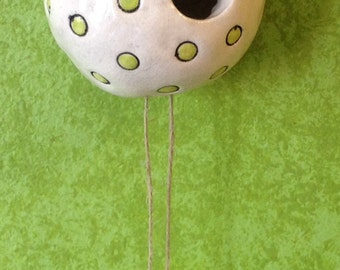 Ceramic Bird House Sculpture for the wall.