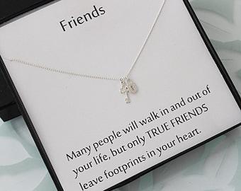 Sterling Silver Key Necklace, Sterling Silver Key jewelry, Padlock Necklace, Dainty Necklace, Best friend gift, message jewelry