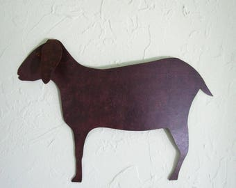 Metal Wall Art Sculpture Goat Folk Art Farm Animal Home Decor Recycled Metal Wall Sculpture Barnyard Metal Wall Hanging Rustic Goat