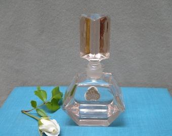 vintage pink crystal perfume bottle, Austria