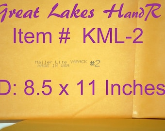 "15 KML-2, Kraft Bubble Cushioned Envelope Mailers, OD: 9.25"" x 11"""