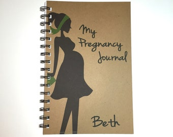 My Pregnancy Journal, Pregnancy Notebook, Pregnancy Diary, Maternity Gift, Pregnancy, Journal, Notebook, Pregnancy Gift, Kraft notebook
